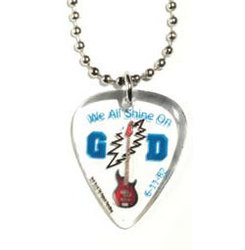 Guitar Pick / Plectrum, Standard Size Pick on Ball Chain Necklace