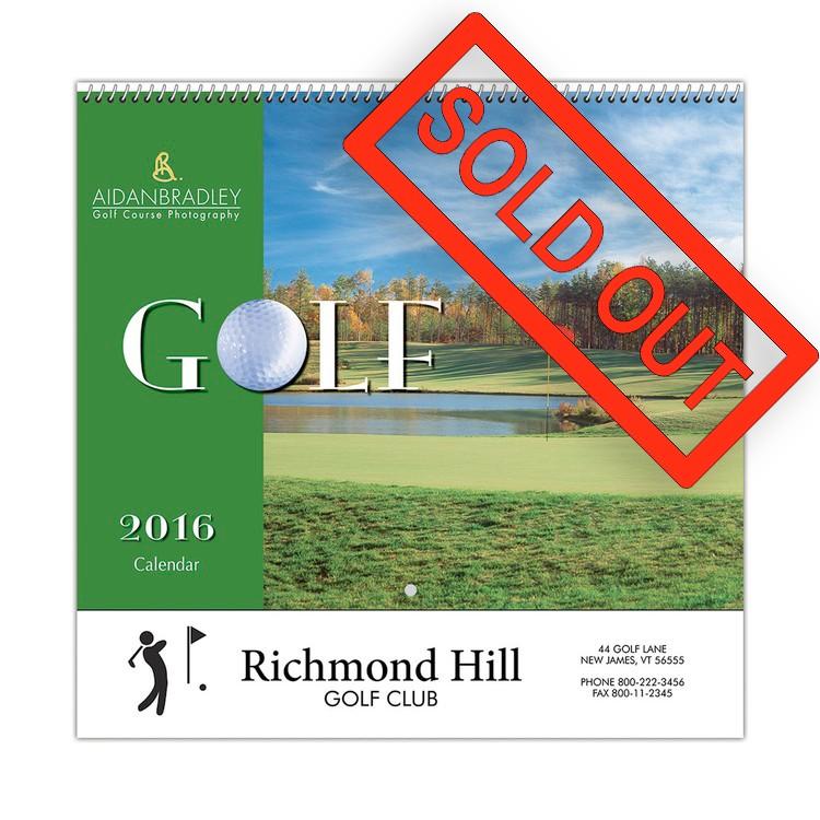 Golf Wall Calendar - Spiral - Beacon Calendars