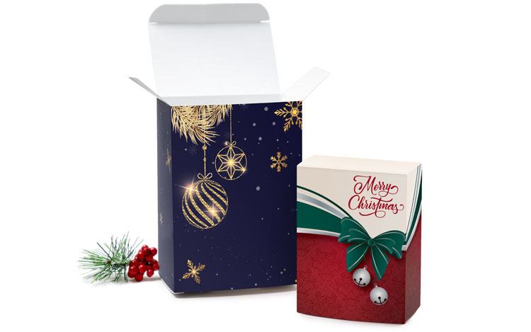 Christmas tuck boxes for party favors and promo kits
