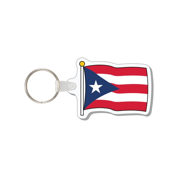 FLAG - PUERTO RICO KEY TAG - Key Tags Anchorline