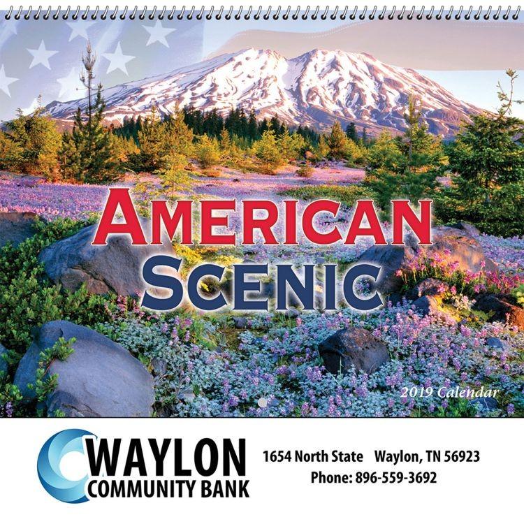 American Scenic Wall Calendar - Spiral - Customizable