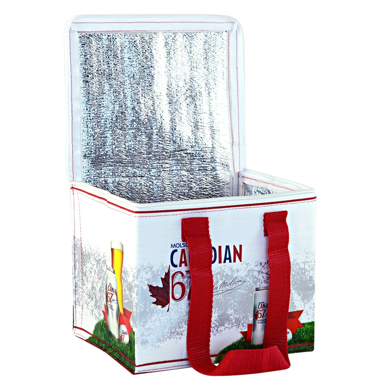 Full Color Custom Laminated Can Cooler Bag