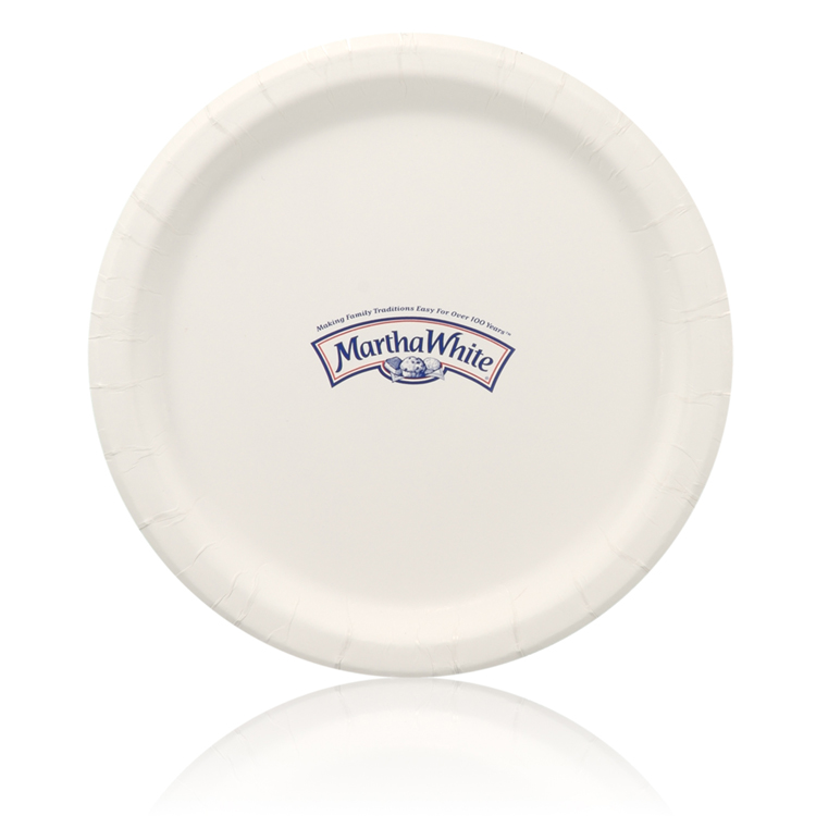 9 Coated Paper Plate - White