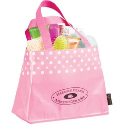 Laminated Non-Woven Mini Dot Gift Tote