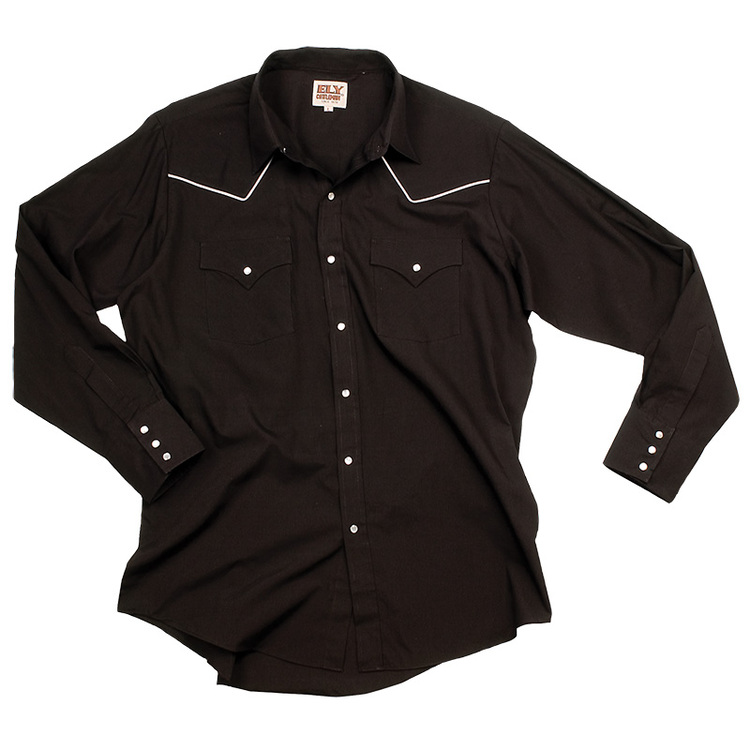 Long Sleeve Blended Piping Western Wear Shirt
