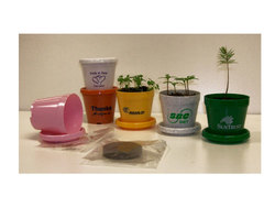 Standard Size (3 1/2) Logo Planter Kit with Herb, Flower, or Tree Seeds