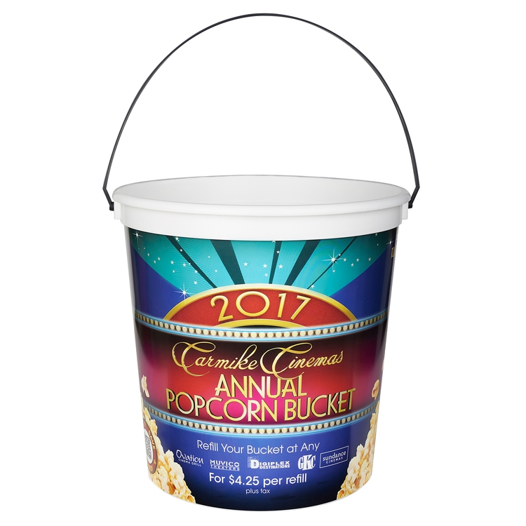 190 oz. Plastic Bucket & Handle w/Full Color In Mold Labeling