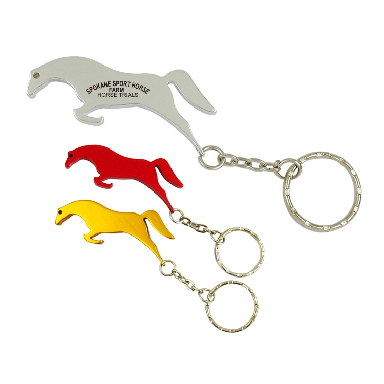 Horse Bottle Opener W/Key Ring-Close out