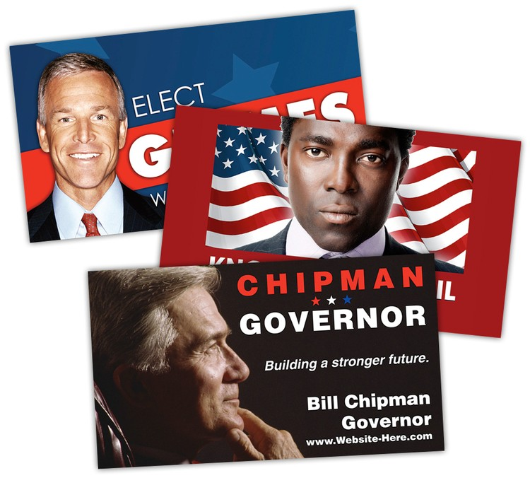 Political Business Card Magnet - 3.5x2 (Square Corners) - 20 mil.
