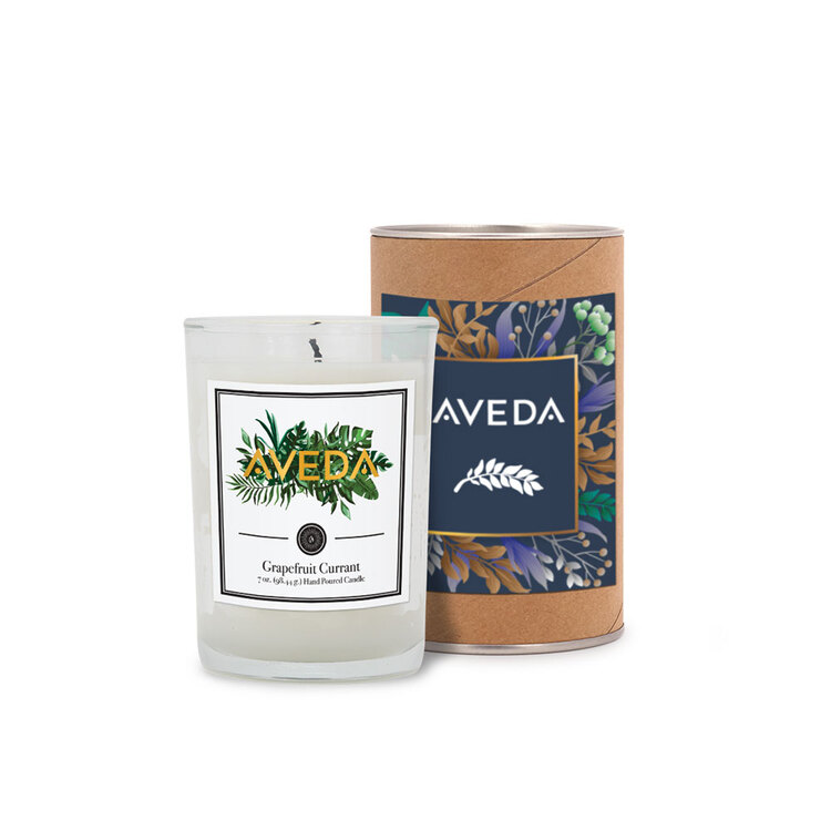 8 oz. Scented Tumbler Candle In A Cardboard Gift Tube With Metal Lids