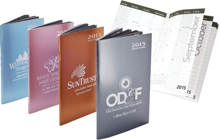 Monthly Pocket Planners - Metallic Monthly Pocket Planners