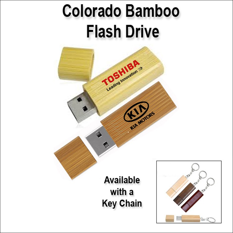 Colorado Bamboo Flash Drive / USB - 2 GB