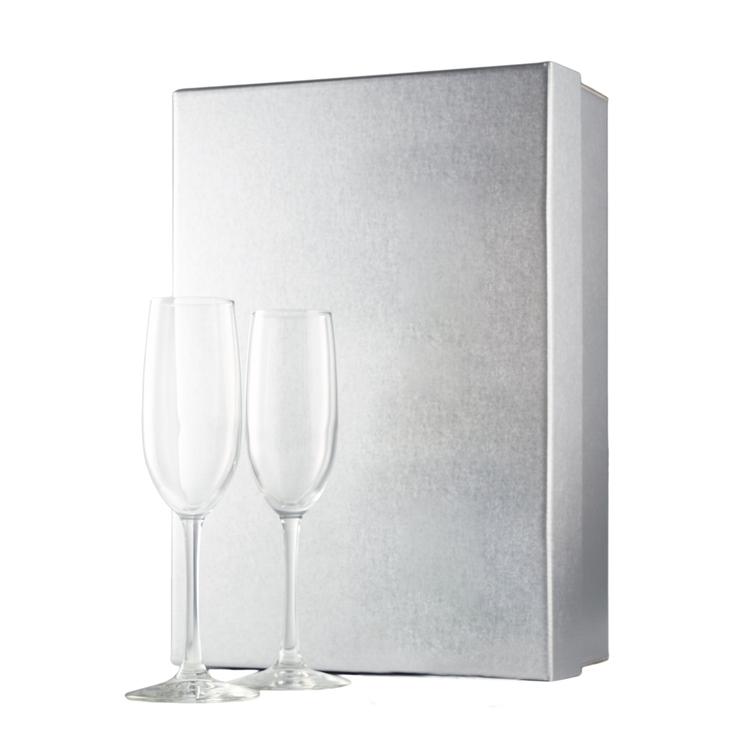 Silver Gift Box w/ Blank Flutes