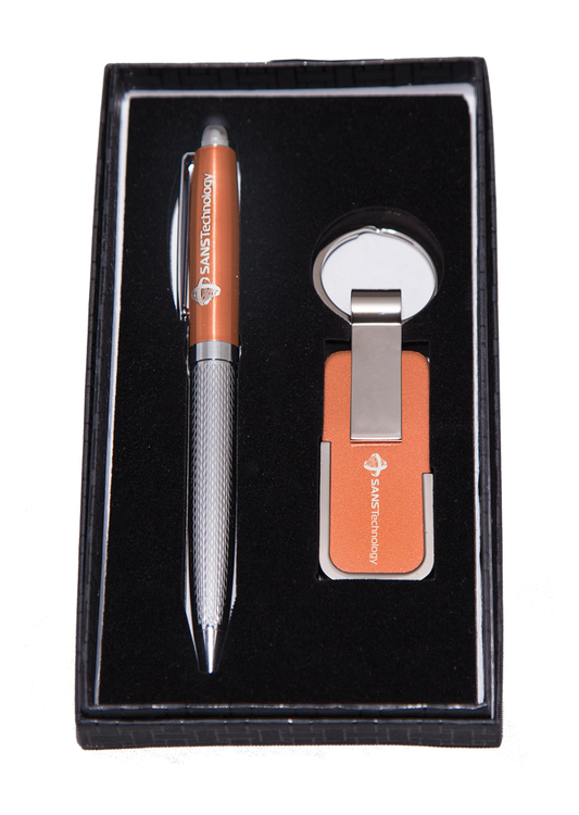 Twist-action Ballpoint Pen and Key Chain Giftset