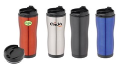 SLM-404 Travel Mug - Tumbler 16 Oz. W/ Screw On Lock Top Lid - Travel Mug - Tumbler 16 Oz. W/ Screw On Lock Top Lid