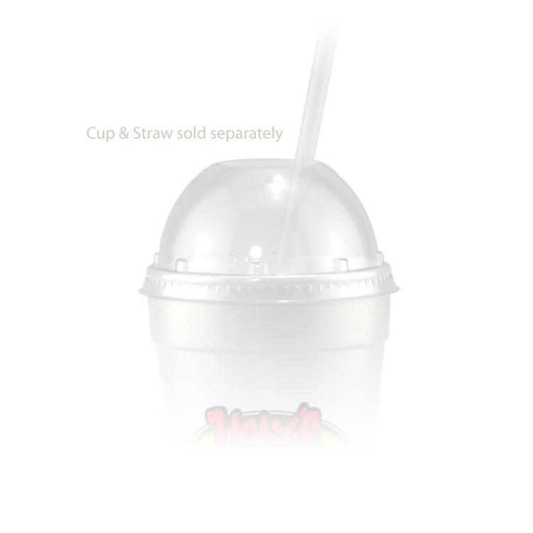 14/16/20 oz Foam Cup Open Domed Lid - Clear