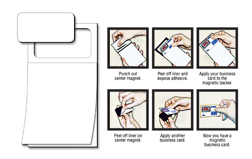 Magnetic Scratch Pad / Notepad (MBC) - Plain White Sheet (50 Sheet)