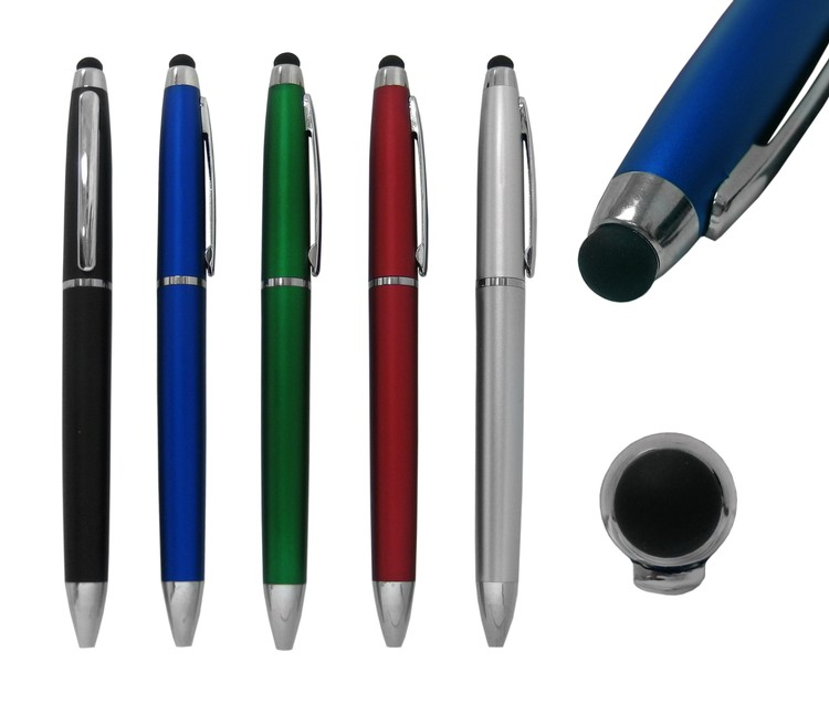 Pad Printed Plastic Ball Point Pen with Stylus