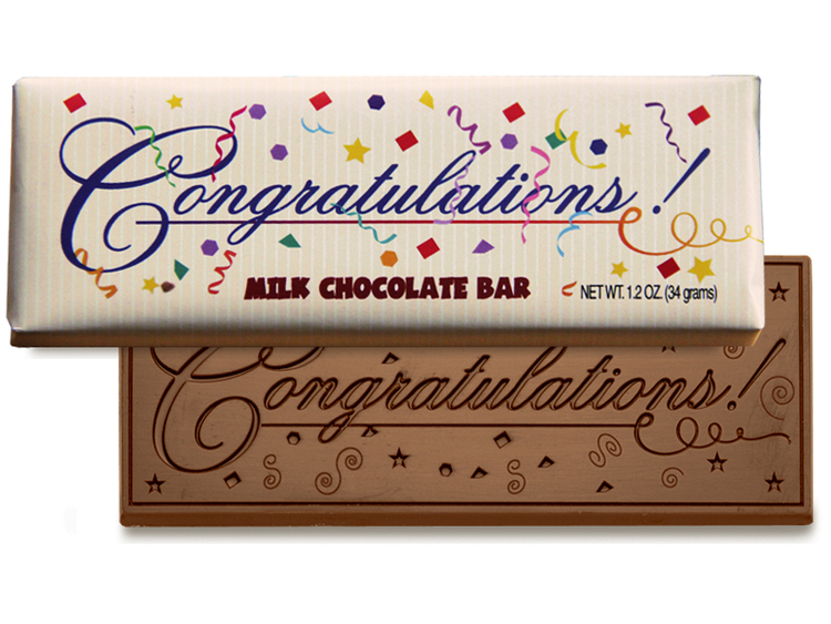 Congratulations 2x5 Chocolate Bar