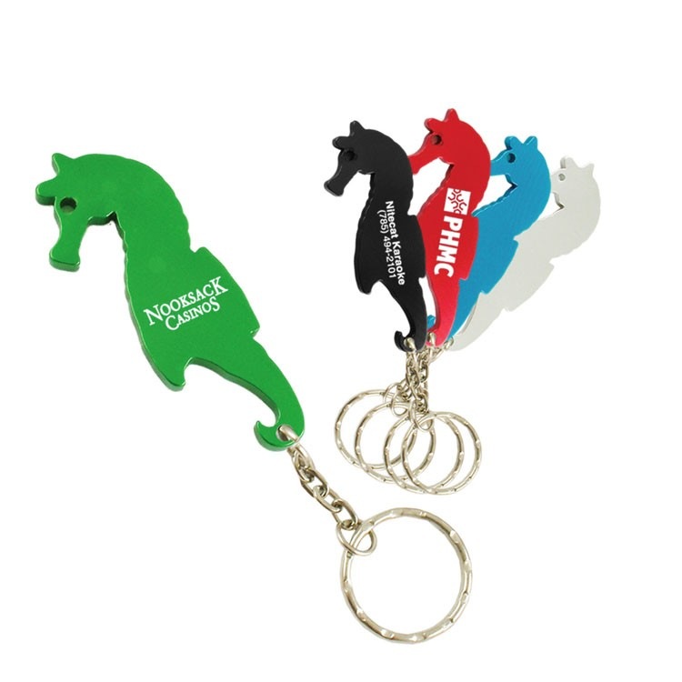 Sea Horse Bottle Opener W/Key Chain