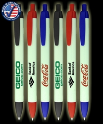 Certified USA Made - Glow in the Dark Pen Wide Click Pens