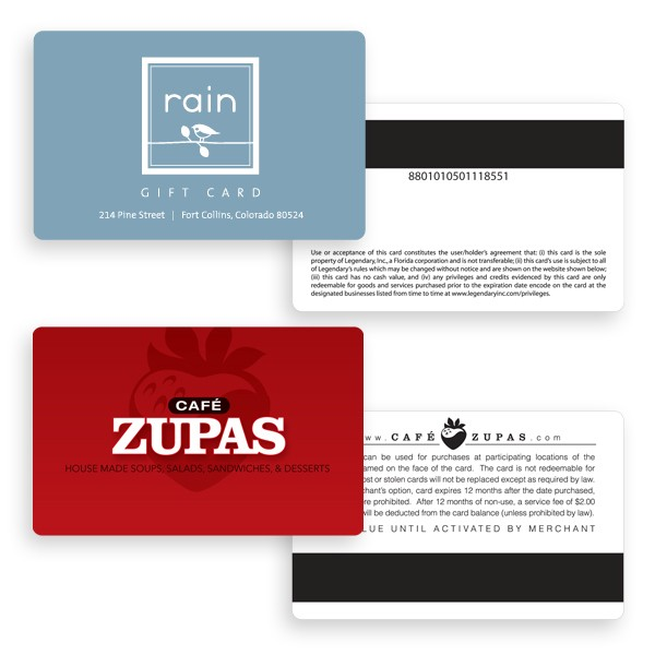 Custom Gift Cards, Membership Cards, Loyalty Cards, and Promo Cards