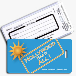 Luggage Tag With Business Card Insert Full Color