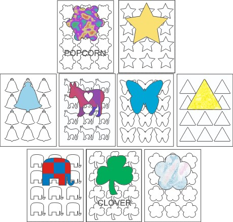 STICKER SHAPES- 12 UP