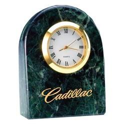 Deluxe Solid Blue Marble Desktop Quartz Clock