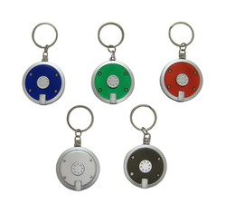 LED Round Key Chain