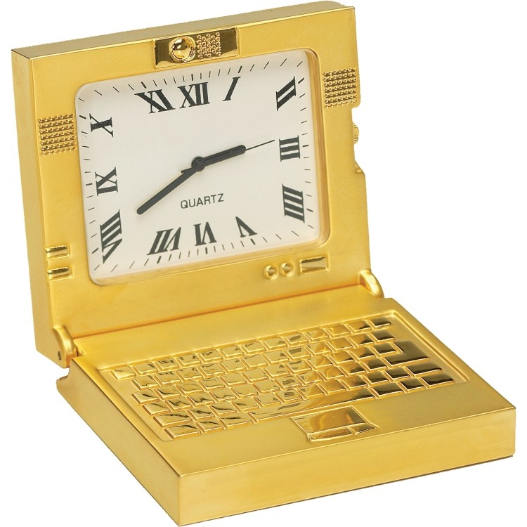 Die Cast Laptop Clock