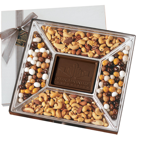 1.25 lb. Custom Chocolate Centerpiece and Confections Gift Box