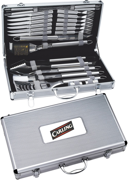 24 Pc Deluxe BBQ Set - barbeque, barbecue