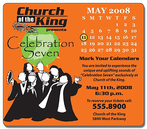 Religious Calendar Magnet - 3.5x4 Round Corners - 25 mil.