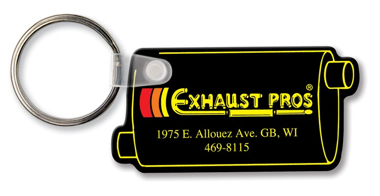 Key Tag - Muffler - Spot Color - Budget friendly key chain / ring / holder and key accessories for auto, car, house or automotive dea