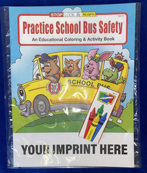 COLORING SET - Practice School Bus Safety Coloring Book Fun Pack - Coloring Book Fun Pack