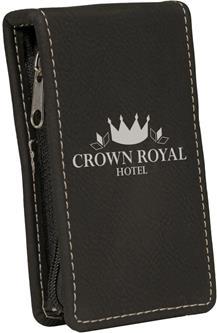 Engraved Black Leatherette Manicure Set