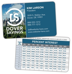 Laminated Wallet Card - 3.5x2.25 (2-Sided) - 14 pt.